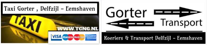 Gorter Transport, Koeriers & Taxi Delfzijl , Eemshaven